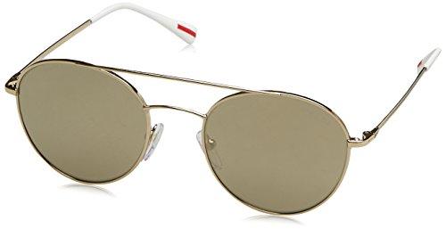 Prada Sport Herren 0PS51SS ZVN1C0 51 Sonnenbrille, Pale Light Brown Gold