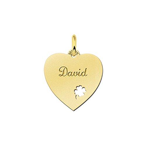nome-forever-collana-con-ciondolo-a-forma-di-cuore-con-1-piccolo-elastico-quattro-foglio-in-oro-con-