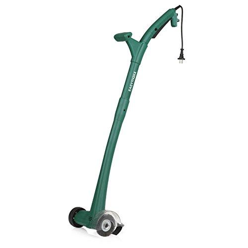 EASYmaxx 02978 Elektrischer Fugenreiniger | 140 W, 1.200 U/min | Ergonomischer Griff, Führungsrad, inkl. Stahl- und Nylon-Bürste | Grün