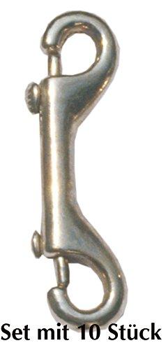 Mousqueton de 10 œillets avec 2 œillets: env. 10 mm-crochet double carabinier