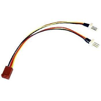 rhinocables 3 Pin Fan Splitter Cable - Female - 2 x Male