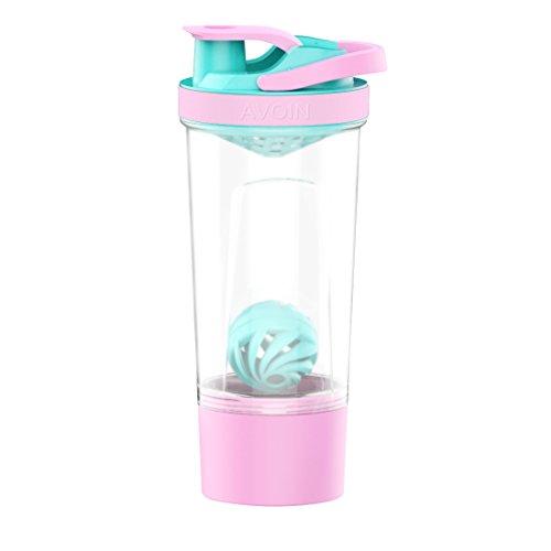 AVOIN colorlife 720 ml Eiweißshaker, Mixer für Pulver Nahrungsergänzungen - mit Transportbox, Drehverschluss und Siebeinsatz - Schöne Farbanpassung - BPA Frei