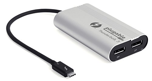 Adaptador Plugable Thunderbolt 3 monitor doble salida