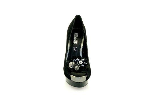 1TO3 - Chaussures pointe découvertes ornées Noir