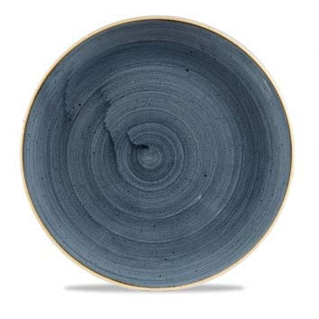 Churchill Stonecast -Coupe Plate Teller- Durchmesser: Ø28,8cm, Farbe wählbar (Blueberry) Blueberry Coupe