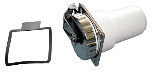 Osculati Edelstahl Steckdose mit Deckel für Bordversorgung bis 50 Ampere