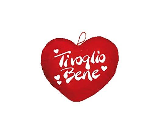 dor San Valentino Cuore Peluche con Scritta Ti Voglio Bene CM 40 Circa