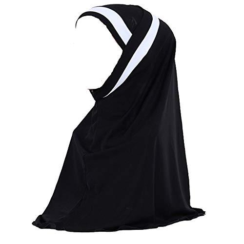 topuhair Frauen Schals Beidseitige Bohrungen Muslimisches Kopftuch 135g Pearl Chiffon Coverchief 57x57cm Frauen Kopftuch -