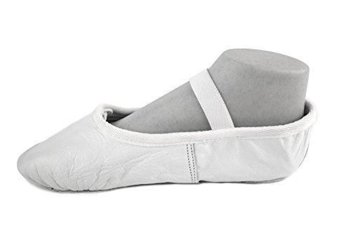 YUMP YUMPZ Balletschuh Moondancer Rosé - Ballettschuhe Aus natürlichem Soft-Leder und Rauledersohle- Turnschläppchen/Gymnastikschuhe yahGHOjs