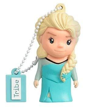 Tribe Frozen Eiskönigin Elsa USB Stick 16GB Speicherstick 2.0 High Speed Pendrive Memory Stick Flash Drive, Lustige Geschenke 3D Figur, USB Gadget aus Hart-PVC mit Schlüsselanhänger – Mehrfarbig