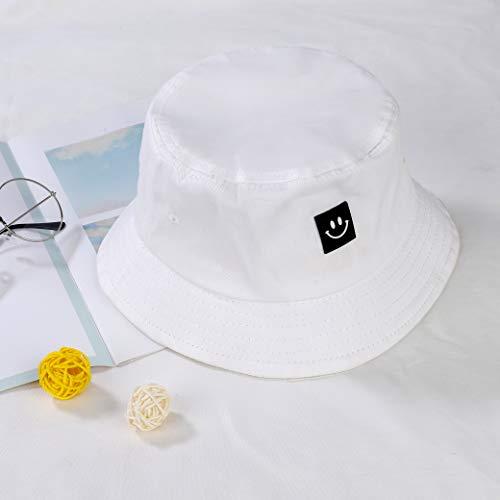 Imagen de sombrero del pescador algodón plegable bucket hat al aire libre visera para senderismo camping y playa 56 58 cm blanco alternativa