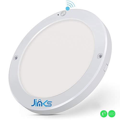 JimKs Sensor Deckenleuchte Deckenlampe Wandleuchte mit Bewegungsmelder, 18W Sensor Innenleuchte mit 3-8 m Reichweite, 1300lm in (Warmes Licht)