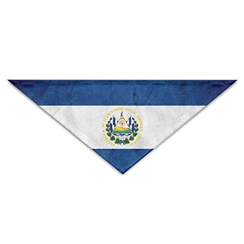 (deyhfef EL Saador Flag Striped Dog Bandanas Scarves Bibs Scarfs Cute Basic Neckerchief Cat Collars Pet Costume Accessory)