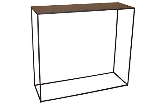 CALEIDO Konsolentisch Sideboard Beistelltisch Konsole Flurtisch Mali Metall Dunkelbraun Höhe 80 cm