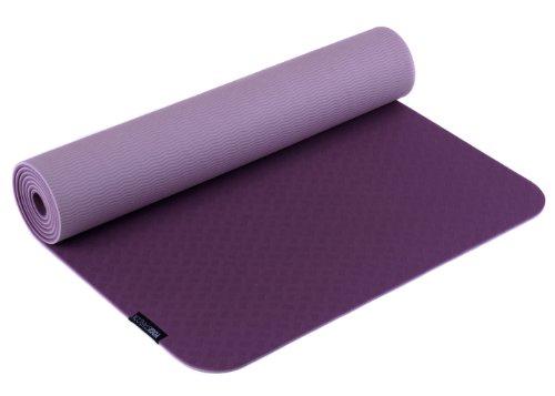 Yogistar Yogamatte Pro - sehr rutschfest - Aubergine