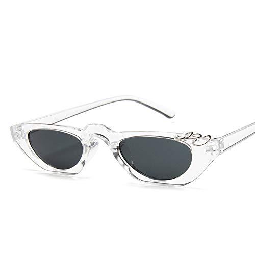 YLNJYJ Sonnenbrillen Einzigartige Cat Eye Sonnenbrille Frauen 90Er Jahre Vintage Leopard Schmale Cateye Sonnenbrille Weibliche Shades Uv400