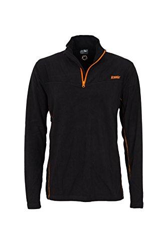 Gregster Herren Fleecepullover Baldo Sport-Sweatshirt ,schwarz ,L Extra Lange Fleece-pullover