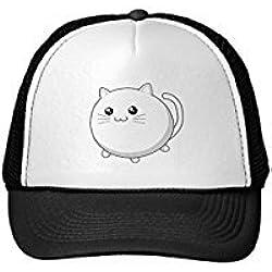 Funny Cute Kawaii White Kitty Cat Trucker Hat