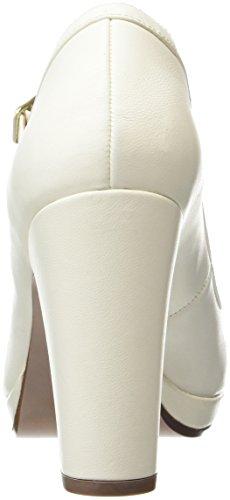 Chie Mihara Bri-Riber, Chaussures à Plateforme et à Talons avec Lanière en T Femme Blanc Cassé - Off White (Alma Leche)
