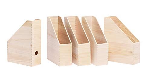 VBS Holz-Stehsammler, 5 Stück, ca. 25x9x30,5cm