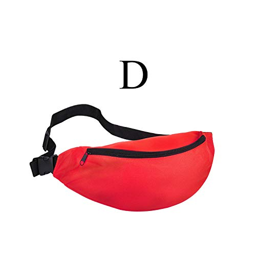 Gürteltasche, Hüfttasche, for Women Men Waist Bag Colorful Unisex Waistbag Belt Bag Zipper Pouch Packs 110Cm Belt Length Factory OEM Red