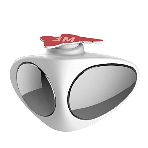 Preisvergleich Produktbild Energystation 2 in 1 Car Blind Spot Mirror 360 Rotation Adjustable Convex Wide Angle Front Wheel Rear View Mirror White