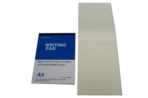 Recharge Bloc-mémo 50 sheets set of 3 ancien stock neuf pour tous A5 à fermeture éclaire Dossiers Fentes deux faces revêtement PA5-338(N)