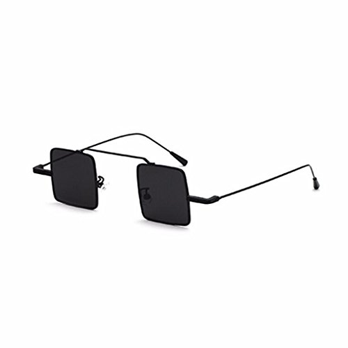Yxsd Small Square Sunglasses Men And Women Retro Trend Metal Frame Suitable For Summer Seaside