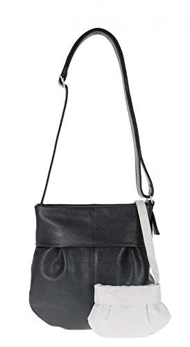 zwei Mademoiselle M10 Shopper Umhängetasche 31 cm Noir (Schulter Tasche Tasche Designer 2)