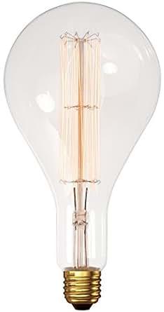 Ampoule XXL décorative vintage transparente à filament vertical Calex Gold Line E40.