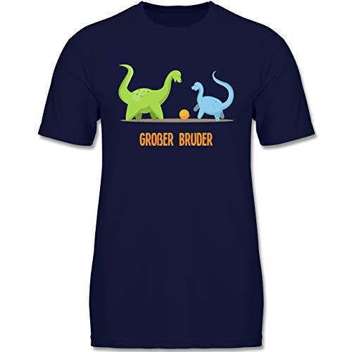 Geschwisterliebe Kind – Großer Bruder Dinosaurier – 110-116 (5-6 Jahre) – Navy Blau – F140K – Jungen T-Shirt