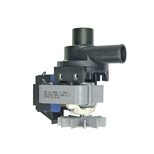 laufpumpe Laugenpumpe Schmutzwasserpumpe Waschmaschinenpumpe Pumpenmotor Pumpe 100W Waschmaschine passend wie Bauknecht 481236018012 Electrolux 899645423789 8996454237893 ()