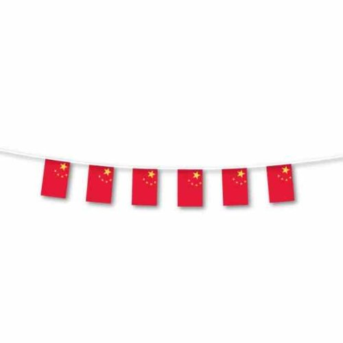 Amscan International Banderole de décoration à fanions drapeaux chinois grande taille - 7m de long