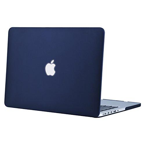 MOSISO Hülle Kompatibel MacBook Pro 15 Retina - Ultradünne Plastik Hartschale Hülle Kompatibel MacBook Pro 15 Zoll Modell A1398 mit Retina Display (2015 - Ende 2012 Freisetzung), Navy Blau - Pro Case Klar Das Macbook 15 Retina