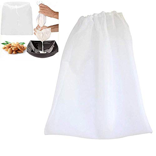 """Nut Milk Bag, Vuffuw 26"""" X 22"""" 4PCS BPA-Free Reusable Food Strainer Bag with Draw String, Nylon Mesh Cheesecloth Filter Bags for Yogurt Almond/Soy Fruit Juice Coffee Tea"""