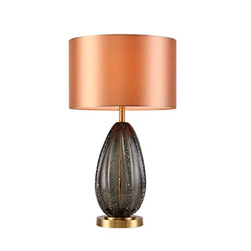 Lampe de bureau Lampes de table modernes Salon Décoration Chambre Table de chevet Lumière Tissu Ombre Creative Design En Verre Décoration