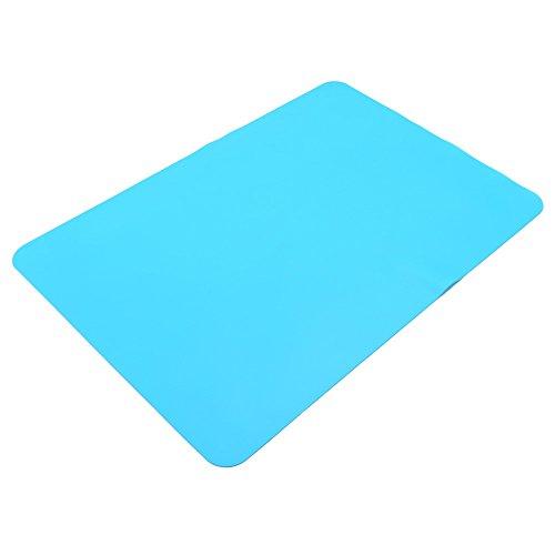 Leisial Sets de Table en Silicone Alimentaire Tapis de Table Resistant à la Chaleur Napperon Mat Antidérapant Anti-échaudage(Bleu