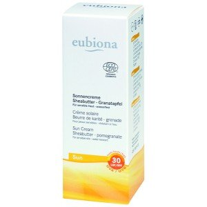 Sonnencreme Sheabutter - Granatapfel, LSF 30, für sensible Haut, besonders auch für Kinder, wasserfest, 50ml