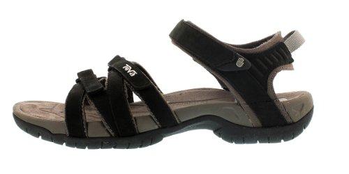 Teva Tirra Leather W's Damen Sport- & Outdoor Sandalen Schwarz (black 513)
