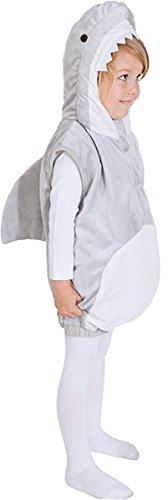 � (Weste mit Kapuze) - Größe: 104 - 116/128 (116/122) (Hai Kostüm Für Kinder)