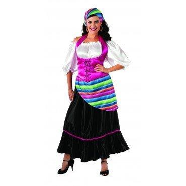 spanische Senorita Kostüm für Damen Gr. XL, (Halloween Tänzerin Flamenco Senorita Spanische Kostüm)