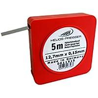 HELIOS-PREISSER Fühlerlehrenband 5 m x 13 mm, inklusive Plastikdose 0,15 mm, 0611515