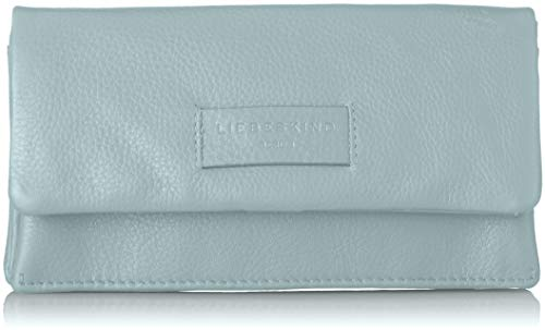 Liebeskind Berlin Damen Essential Slam Wallet Large Geldbörse, Blau (Light Blue Mist), 2x10x19 cm
