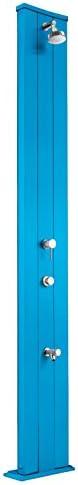 Doccia Tradizionale per Interno e Esterno Arkema Dada S per con Miscelatore, Pulsante Temporizzato per S non sprecare acqua e Lavapiedi Doccia in Alluminio Dritta ARKEMA D435 5012 Colore Blu 5d3c8a