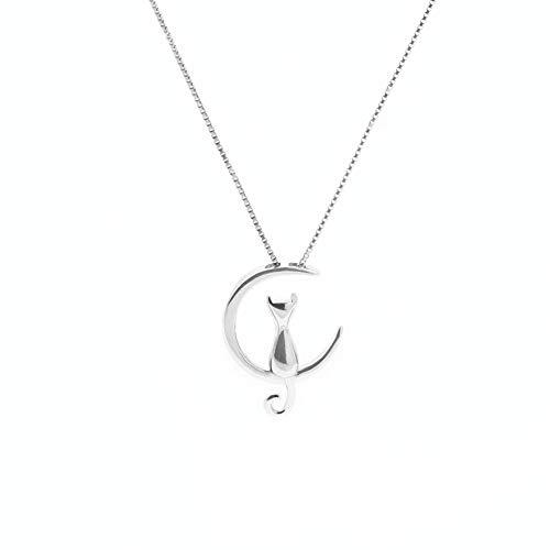 Wansan ciondolo collana cat moon lega catena collane carino donne gioielli regali accessori