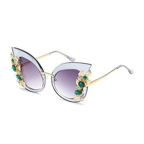 TYJYTM Strass Cat Eye Sonnenbrille Frauen Designer Black Cat Eye Sonnenbrille Sexy Shades Für Frauen Uv400