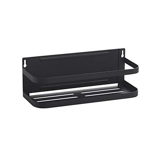 Junshuo magnetico frigorifero porta spezie, scaffale porta portaspezie erbe organizer da parete, cucina condimento rack, salvaspazio, per frigo e le superfici metalliche (nero)