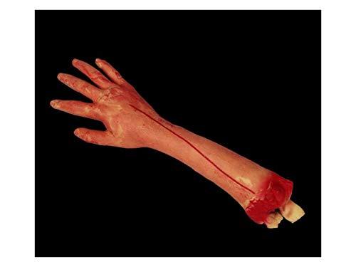 Komisch Simulation Arm Requisiten Körperteil Orgel Horror Bloody Zombie Streich Spielzeug Dekorationen für Halloween (gelb) für die Dekoration