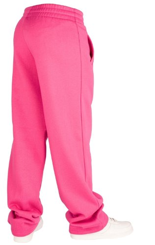 Urban Classics Loose-Fit Pantalon Sweat Limegreen Fuchsia
