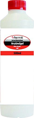 Fermit Anzünd- Gel 0,5l Flasche (Alkohol Flasche Lagerung)